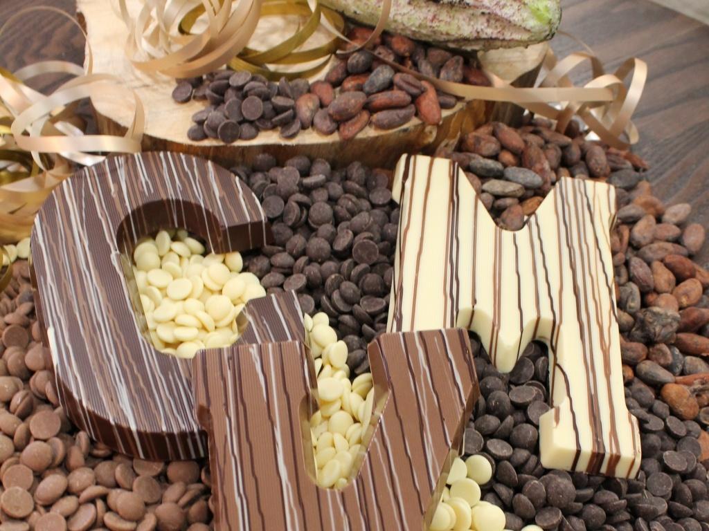 Vergroot de foto van de Chocoladeletter A t/m Z 200 gram