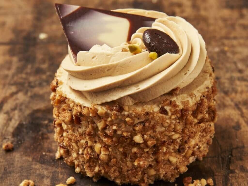 Vergroot de foto van de Mokka creme gebakje