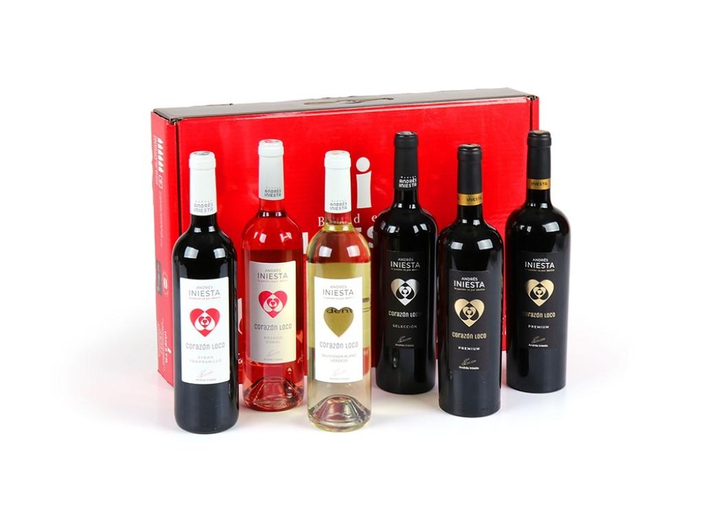 Vergroot de foto van de Iniesta geschenkdoos 6 flessen