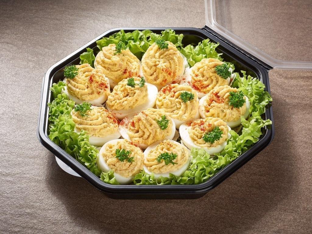 Vergroot de foto van de Gevulde eieren (12 stuks)