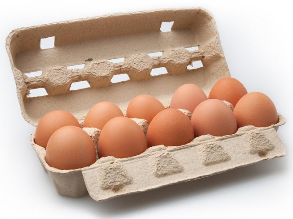 Vergroot de foto van de Doosje Noaber eieren 10 stuks (maat L)