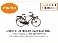 Foto van Cortina E-U4 H53 Jet Black Matt RB7