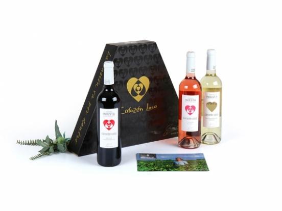 Foto van Andr?s Iniesta wijn trio